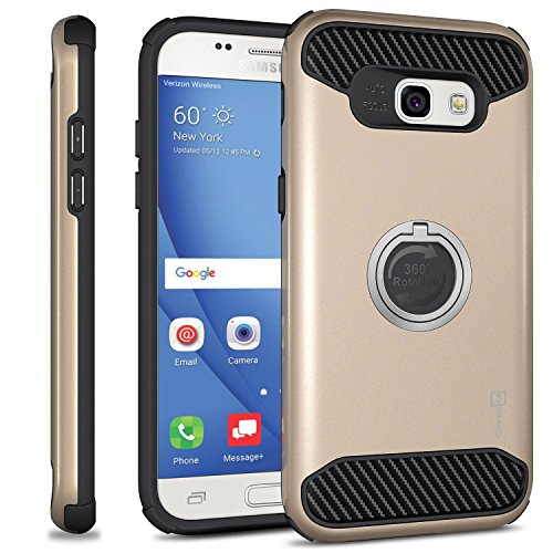Galaxy A7 2017 Case, CoverON [RingCase Series] Modern Design Hard Protective Hybrid Phone Cover with Grip Ring for Samsung Galaxy A7 (2017 Version) A720 - Gold - A720 Series
