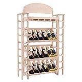 Moon Daughter Wood Wine Rack Display Shelf Storage 34 Bottles Dependable Organizer