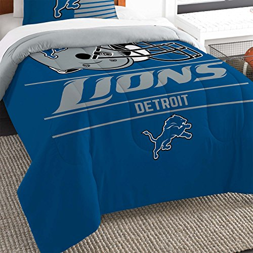 The Northwest Co mpany NFL Detroit Lions Draft Twin 2-piece Comforter Set by Northwest Enterprises