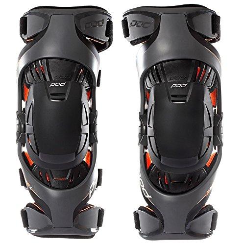 POD Unisex-Child K1 Knee Brace (Grey/Orange, Youth Medium) (Pair) - K1013-230-YM