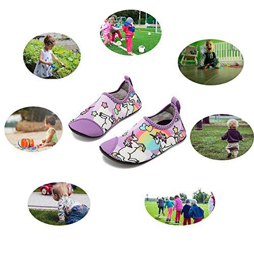 HooyFeel Cute Kids Toddler Sneakers Lightweight Slip on Swim Water Shoes Aqua Barefoot Socks for Baba Boys and Girls by HooyFeel (Image #7)