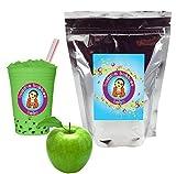 Green Apple Boba/Bubble Tea Powder By Buddha Bubbles Boba 10 Ounces (283 Grams)
