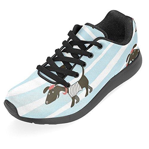 Interestprint Kvinna Jogging Kör Sneaker Lättvikts Gå Gång Casual Komfort Sports Löparskor Gullig Tecknad Parisian Tax Multi 1