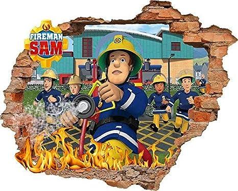 Feuerwehrmann Sam Tapete Aufkleber 56cm X 62cm Kids Schlafzimmer
