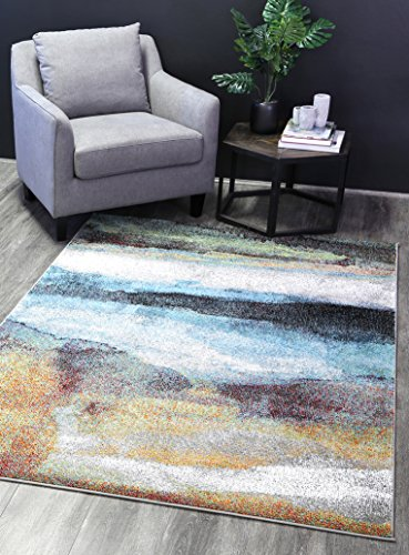 - Home Culture Jazelle Water Color Multi Area Rug – 5' x 7' (155 x 220 cm)