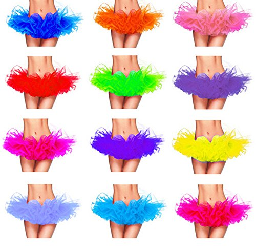 Femmes Tutu Danse Dress Adulte Organza Clair Princess Clubwear Party Violet Mini DELEY jupe 5ngqx5