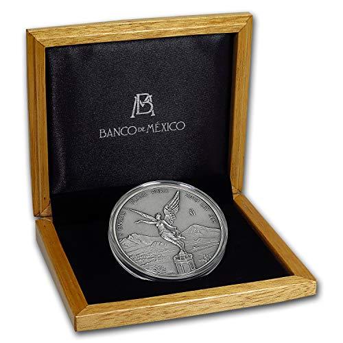 2018 MX Mexico 5 oz Silver Libertad Antiqued Finish (w/Box & COA) Silver Brilliant Uncirculated