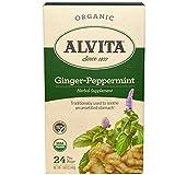 Alvita Teas, Ginger-Peppermint, Organic, Caffeine Free, 24 Tea Bag, 1.69 oz (48 g) - 3PC