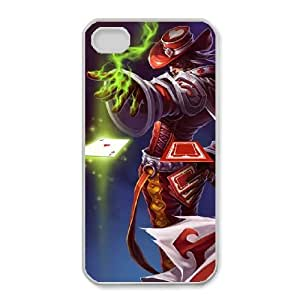 iphone4 4s Phone Case White Twisted Fate league of legends WE1TY681334