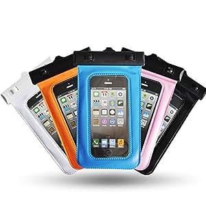 """Theoutlettablet® Funda acuática sumergible de protección para smartphone Alcatel One Idol 2 5"""" COLOR - AZUL (Mod:S-410)"""