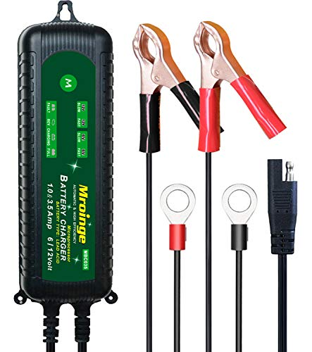 Mroinge MBC035 6V and 12V 3.5A Smart Vehicle Battery Charger/Maintainer for Cars, Motorcycles, RVs, TVs, Powersports, Boat and More Vehicle GEL WET AGM Batteries, With IP65 Waterproof by Mroinge (Image #7)