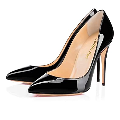 Caitlin Pan Womens Formal Pointed Toe Pumps Basic Shoes High Heel Stilettos  Sexy Slip On Dress c0122f2d4fd