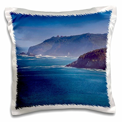 3dRose Spain, Elantxobe, view of the Basque coast - EU27 WBI1010 - Walter Bibikow - Pillow Case, 16 by 16-inch (pc_139544_1) by 3dRose