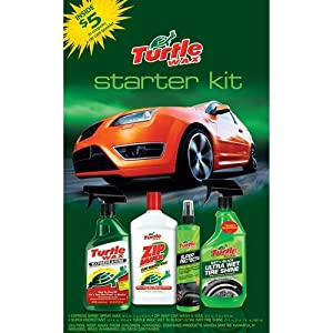 T-2012wkt Turtle Wax Starter Kit Includes Ultra Wet Tire + Super Protectant + Car Wash & Wax + Express Shine