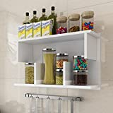 Kitchen Shelf Wall Stretcher Storage Shelf Bathroom Cabinet Storage Tower Cabinet Cabinet LH: 6030cm ( Color : White )