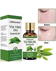 Tea Tree Oil,Huile Essentielle d'Arbre à Thé,Huiles Essentielles De Théier,Soulage les irritations cutanées courantes, la peau sèche gercée, les cuticules et les anti-boutons, anti-acné