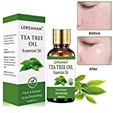 Tea Tree Essential Oil for Face Hair Nail Acne Lice,100% Natural Premium Melaleuca Therapeutic Grade - Great with Soap and Shampoo, Face and Body Wash