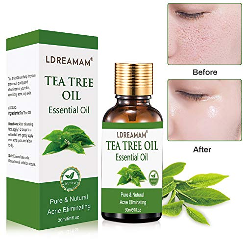 Tea Tree Essential Oil for Face Hair Nail Acne Lice,100% Natural Premium Melaleuca Therapeutic Grade - Great with Soap and Shampoo, Face and Body - Oils Essential Nails