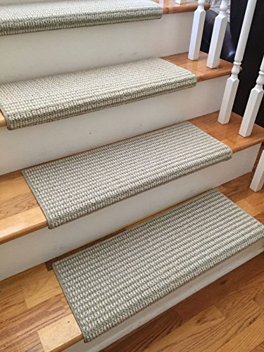 Sunburst 100% New Zealand Wool Authentic Handmade True Bullnose Carpet Stair  Tread Runner Replacement For