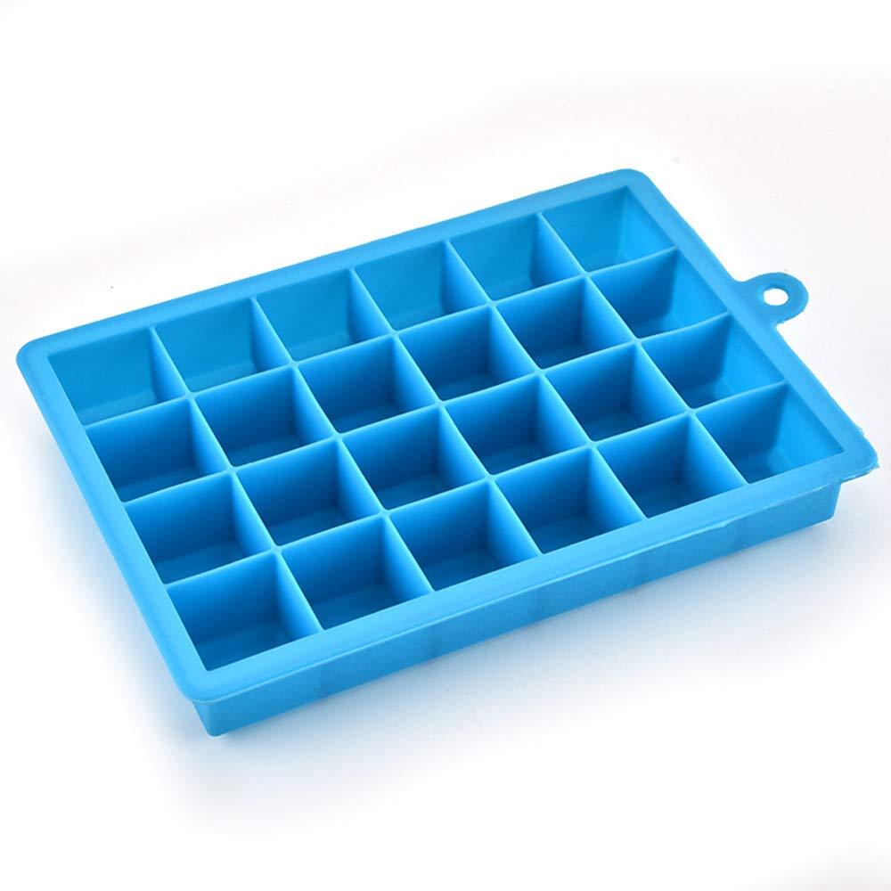 EBILUN Molde para Cubitos de Hielo de Silicona de 24 bandejas de ...
