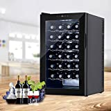 KUPPET BCW-70A 28 Bottles Thermoelectric Freestanding Wine Cooler/Chiller-Red/White Wine, Beer and Champagne Wine Cellar-Digital Temperature Display-Double-layer Glass Door-Quiet Operation