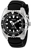 "Seiko Men's SKA413""Adventure"" Stainless Steel Kinetic Diver Watch"