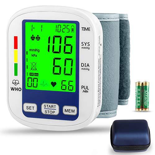 Wrist Blood Pressure Monitor,MOICO Voice Broadcast Automatic Digital Blood Pressure Monitor,Backlight LCD Display-BP Monitor Blood Pressure Cuff Detects Irregular Heartbeat (Best Blood Pressure Monitor 2019)