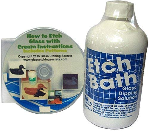 Etch Bath Glass Etch Dipping Solution (16 oz) Free How to Etch CD