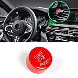 Sports Red Start Stop Engine Switch Button For BMW,Jaronx Engine Power Ignition Start Stop Button Replacement(Fits: BMW 1 2 3 5 7 X1 X3 X5 Series 2010-2016)