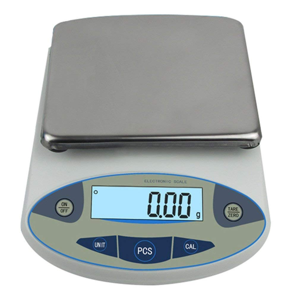 High Precision Lab Analytical Electronic Balance Digital Precision Scale Laboratory Precision Weighing Electronic Scales Balance Jewelry Scales Gold Balance Kitchen Scales (500g, 0.01g) by CGOLDENWALL