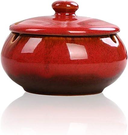 Red Ceramics and Pottery Ash Tray Smoking tray