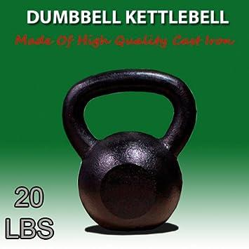 Nueva 20 kg de hierro fundido pesas rusas peso mancuernas Kettlebell: Amazon.es: Deportes y aire libre