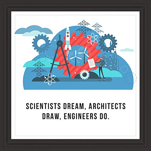 Hopeful Bay Gifts for Engineer | Unique 7x7 Tile Artwork | Gift for Engineering Majors and Future Engineers | Ideal Present for Office or Workplace Decor (Engineering Office)