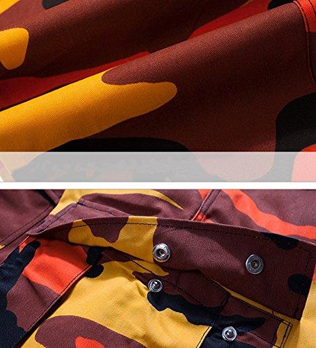 Jeans Loisirs Hommes De poches Camouflage Idopy Multi Orange Pantalon Pour nX1YYq
