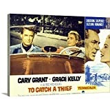 GREATBIGCANVAS Gallery-Wrapped Canvas Entitled to Catch A Thief - Movie Poster by 30'x23'