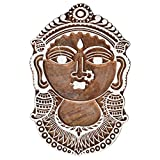 Shrinath Handicrafts Indian Woman With Jewelry Decorated WOODEN BLOCK STAMPS HAND CARVED PRINTING BLOCK TEXTILE PRINTING