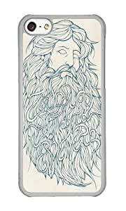 Apple Iphone 5C Case,WENJORS Personalized Zeus Hard Case Protective Shell Cell Phone Cover For Apple Iphone 5C - PC Transparent