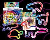 Pack of 12 Rubba Bandz Rubber Bracelets Tie Dye Animal