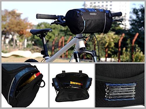 Roswheel 11494 5l Capacity Bike Handlebar Bag Bike Basket Bike
