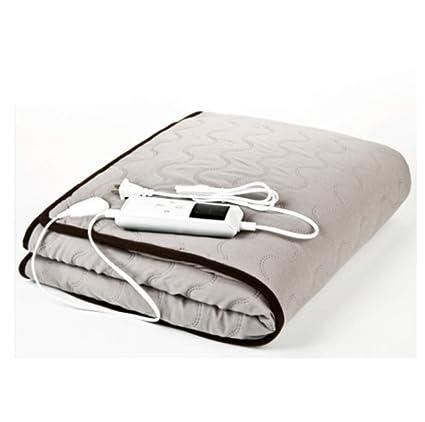 FUGUOGUO Mantas de Cama Tiro con calefacción, tamaño Queen Algodón Peinado Control Doble a Prueba