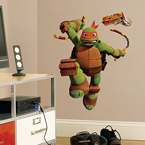 Teenage Mutant Ninja Turtles Mike Peel & Stick Giant Wall Decals 18 x 40in