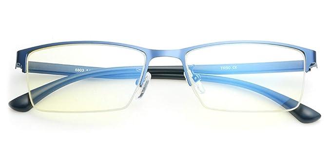 0792eb0fca TIJN Lunettes anti Lumière bleue Lunette de vue pour Ordinateur Anti  fatigue oculaire UV pour Homme