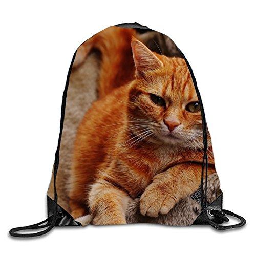 dly Animal Gym Sack Bag Drawstring Backpack Sport Bag for Men & Women (Cuddly Sweet)