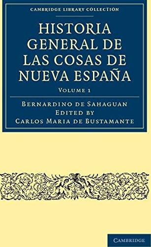 Historia General de las Cosas de Nueva España 3 Volume Paperback ...