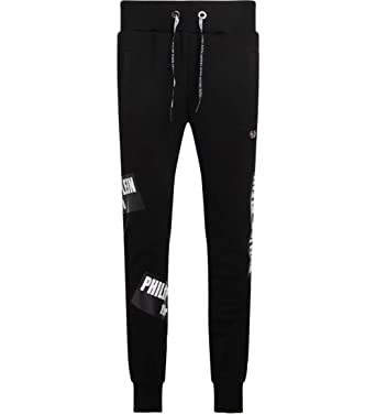 low price sale pretty cool bottom price Philipp Plein Men's Black Fleece Sweatpants at Amazon Men's ...