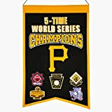 MLB Pittsburgh Pirates 5 Time WS Champions Banner, One Size