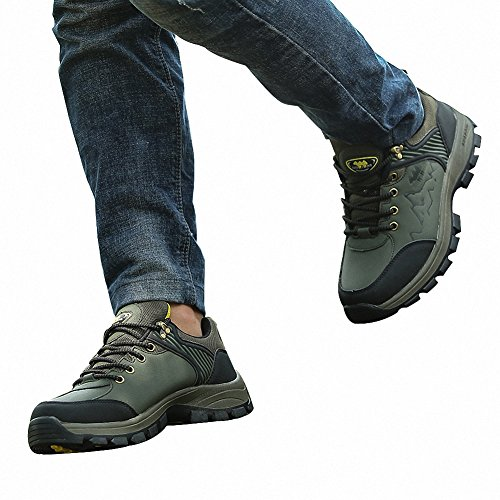 Ben Sports Zapatillas de senderismo Botas de senderismo zapatillas de deporte para Hombre,37-46 Verde