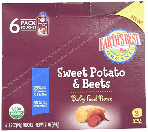 Earth's Best 2nd Foods Just Veggies - Sweet Potato & Beets - 3.5 oz - 6 (2nd Sweet Potato)