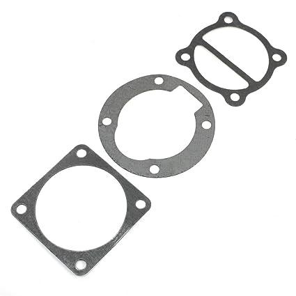 3 piezas Industrial compresor de aire rueda Base juntas de cabezal negro