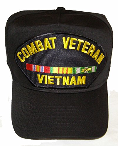Vietnam Combat Veteran with Ribbons Hat - Veteran Owned Business